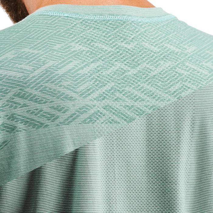 Tee shirt randonnée nature NH500 fresh bleu gris homme