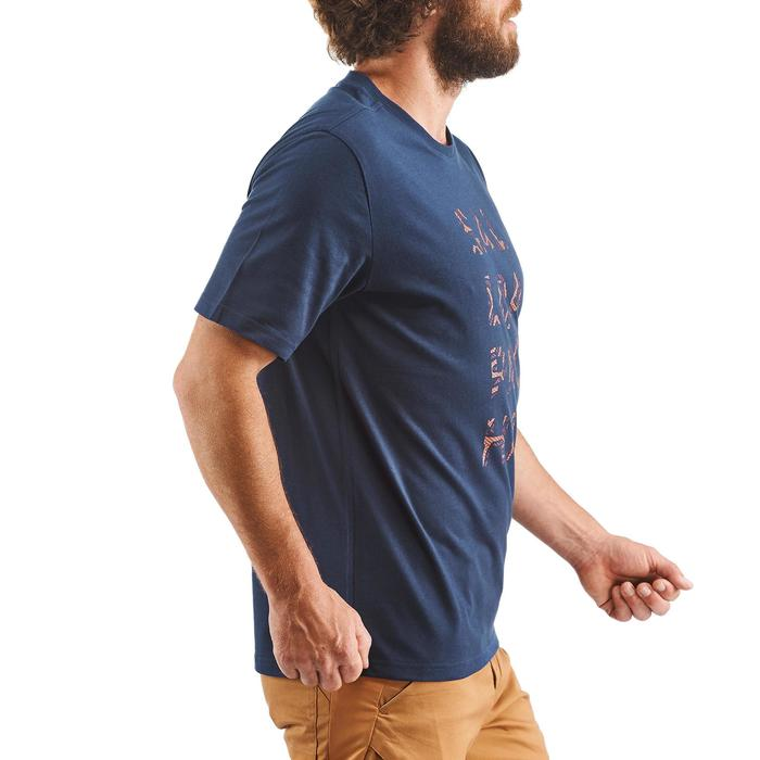 Tee shirt randonnée nature NH500 marine homme