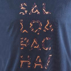 Camiseta Manga Corta de Montaña y Senderismo Quechua NH500 Hombre Azul marino