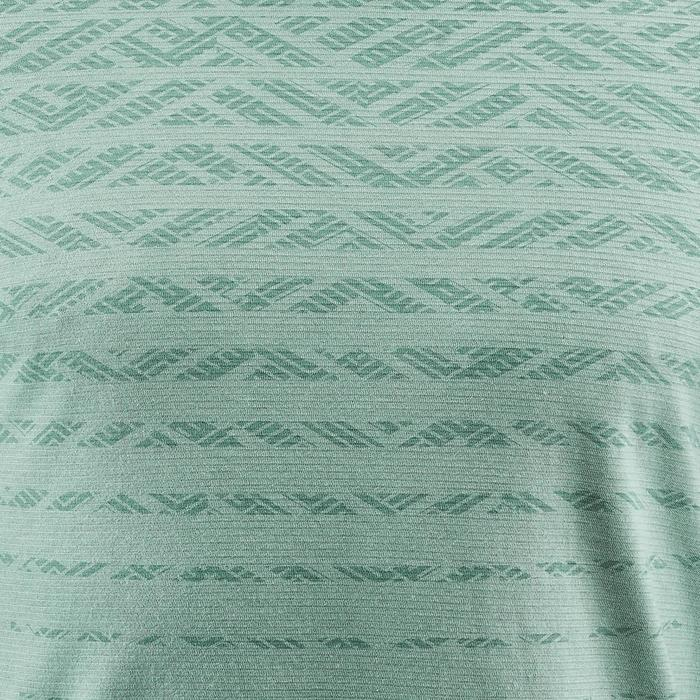 T-shirt wandelen in de natuur NH500 Fresh grijsblauw heren