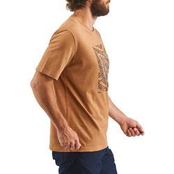 Camiseta Manga Corta de Montaña y Senderismo Quechua NH500 Hombre Marrón