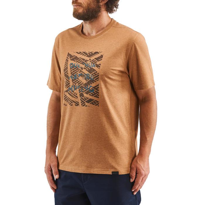 T-Shirt Naturwandern NH500 Herren hellbraun