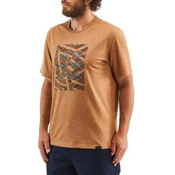 Tee shirt randonnée nature NH500 noisette homme