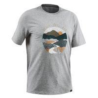 Camiseta Manga Corta De Montaña y Trekking Quechua NH 500 Hombre Gris
