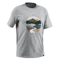 T-shirt randonnée nature NH500 gris chiné homme