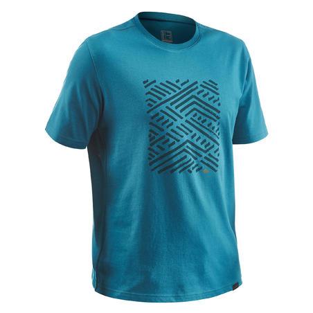 T-shirt randonnée nature NH500 bleu homme