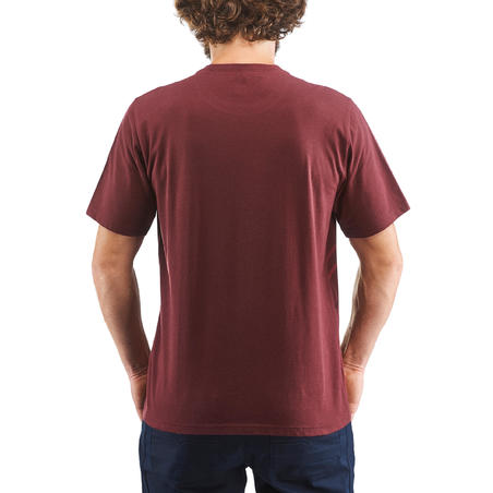 T-shirt Country Walking Pria NH500 Fresh - Burgundy