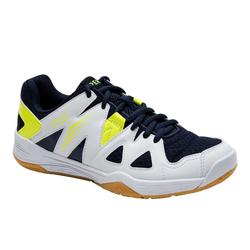 ZAPATILLAS DE BÁDMINTON JÚNIOR BS 500 BLANCO AMARILLO