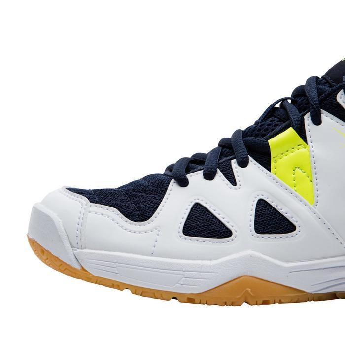 兒童款羽球鞋BS 500-白黃配色
