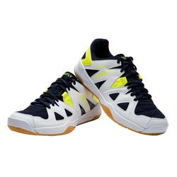JUNIOR BADMINTON SHOES BS 500 WHITE YELLOW