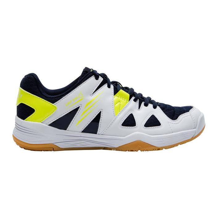Badmintonschoenen voor kinderen BS500 wit/geel