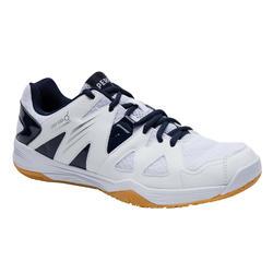 Badmintonschoenen voor heren BS 530 wit blauw