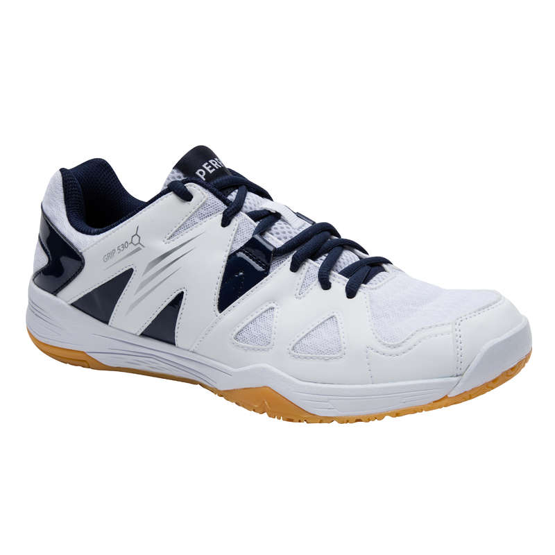 MEN'S INTERMEDIATE BADMINTON SHOES Table Tennis - BS 530 MEN SHOES WHITE BLUE PERFLY - Table Tennis