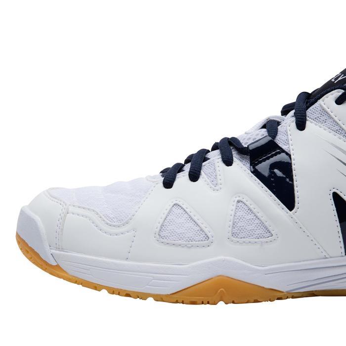 Badmintonschoenen voor heren BS 530 wit/blauw
