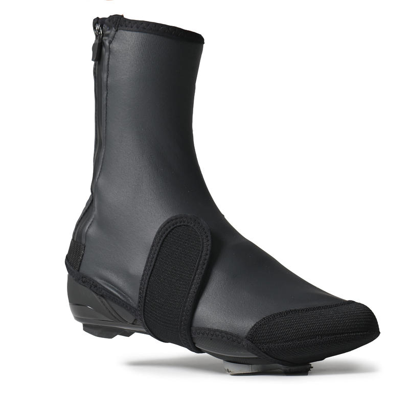 500 Road Cycling Cycle and Touring Mountain Biking Overshoes - Black