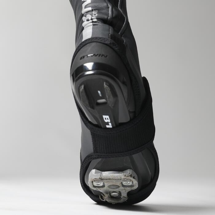 Sur-chaussures velo route cyclotourisme/VTT 500 Homme noir