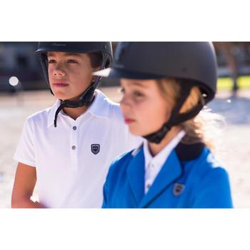 Polo de concours manches courtes équitation enfant 100 COMPET blanc