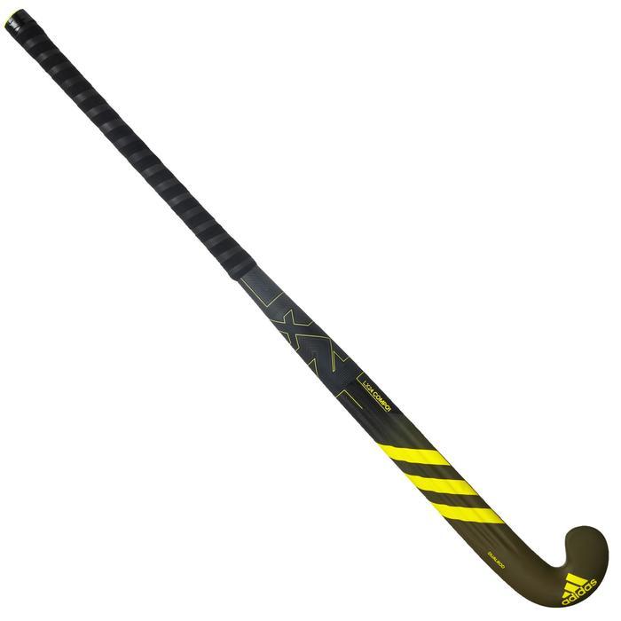 Hockeystick volwassenen gevorderd low bow 70% carbon LX24 Compo1 geel