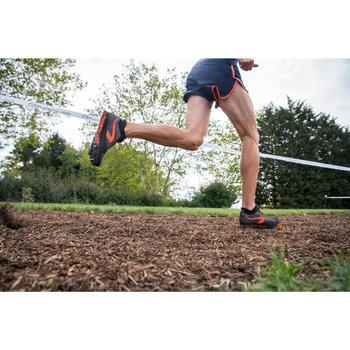 Atletiekschoenen met spikes voor veldlopen zwart en rood