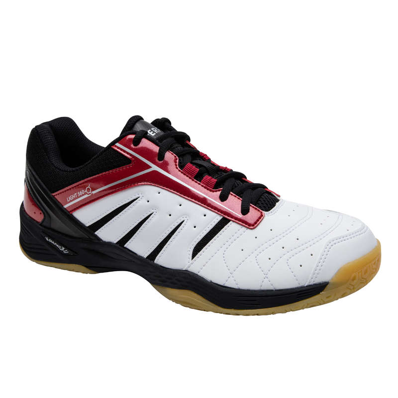 MEN'S INTERMEDIATE BADMINTON SHOES Table Tennis - BS 560 MEN LITE SHOES WH RED PERFLY - Table Tennis