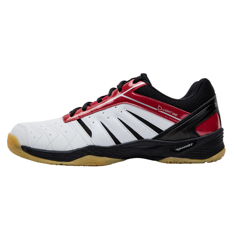 MENS BADMINTON SHOES BS 560 - RED/WHITE