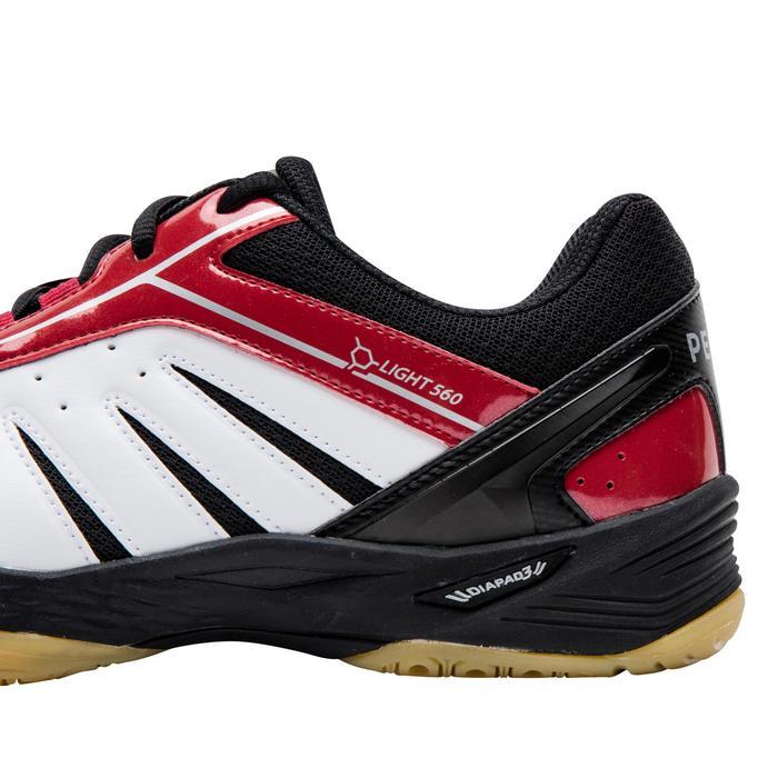 男款輕量羽球鞋-白紅配色