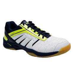 Lichte badmintonschoenen voor heren wit geel