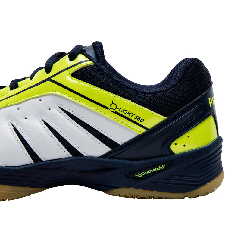 MENS BADMINTON SHOES BS 560 - WHITE/YELLOW
