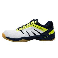 男款輕量羽球鞋-白黃配色