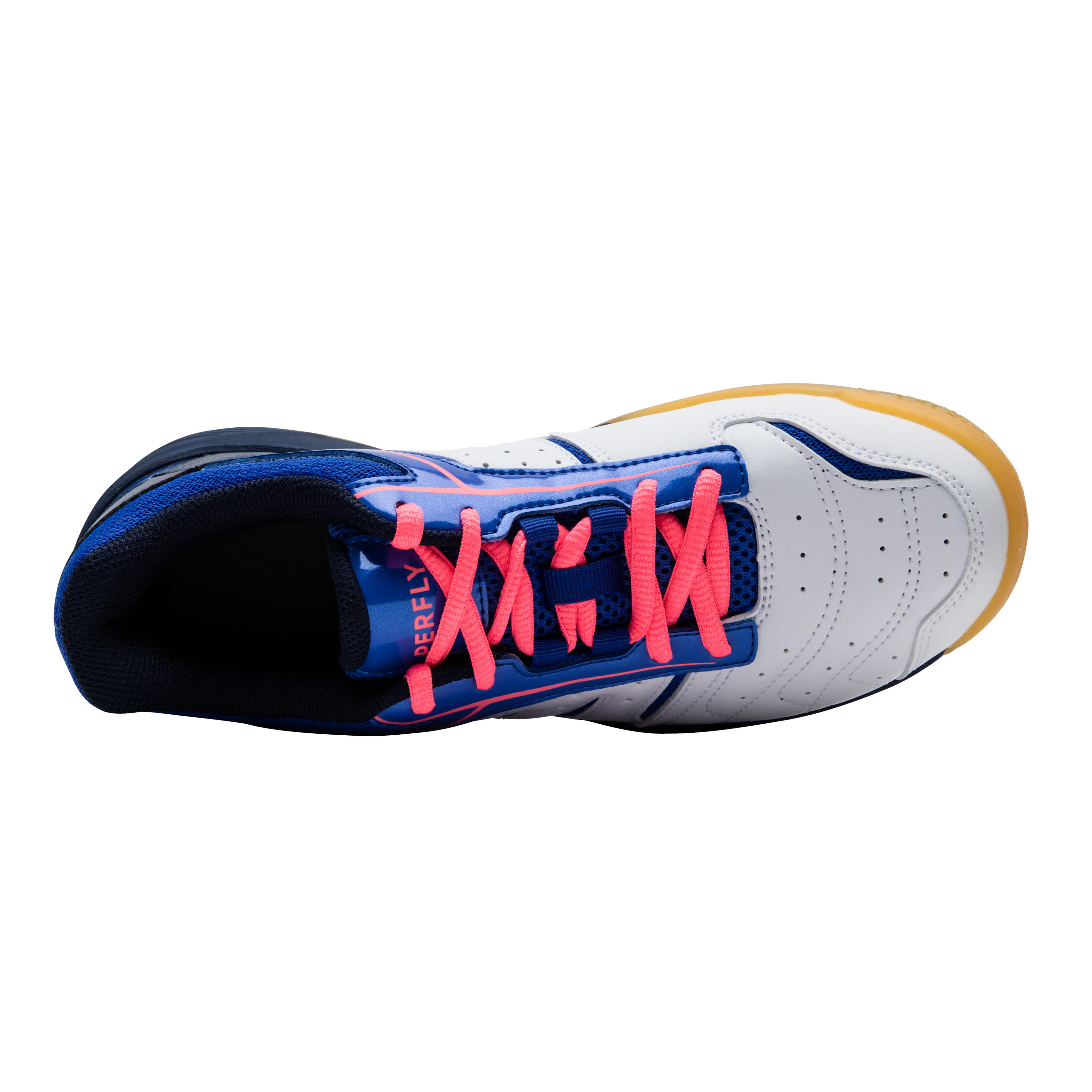 WOMEN BADMINTON SHOES LITE WHITE BLUE