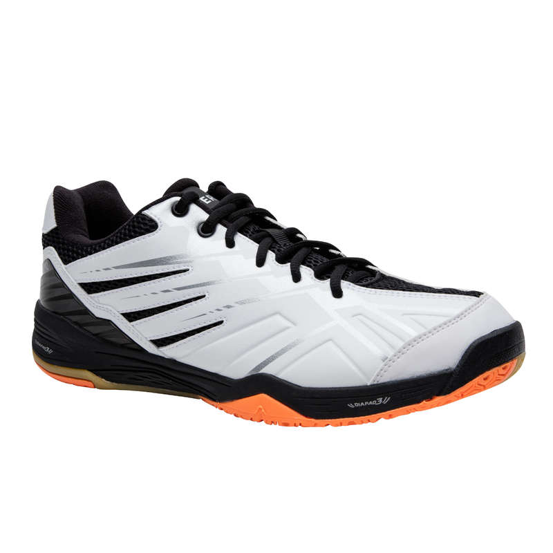 MEN'S INTERMEDIATE BADMINTON SHOES Indoor Hockey - BS 590 MAN MAX COMFORT WHITE PERFLY - Indoor Hockey