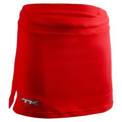Jupe de hockey sur gazon fille Paulista rouge