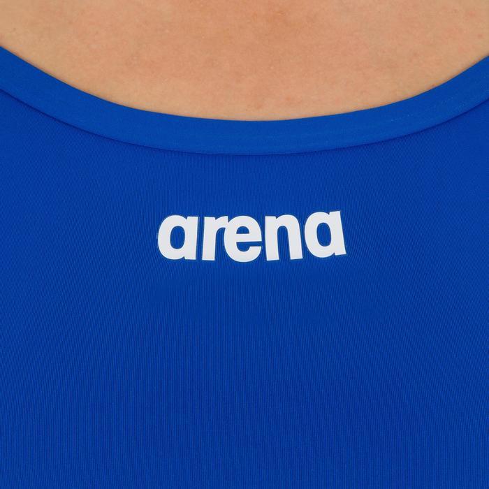 e4b9b2761f11 Bañador Natación Piscina Arena Solid Mujer Espalda X Competición Azul  Intenso