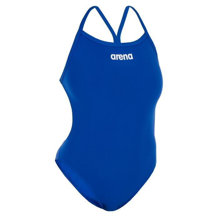 Damesbadpak Solid Light Tech blauw