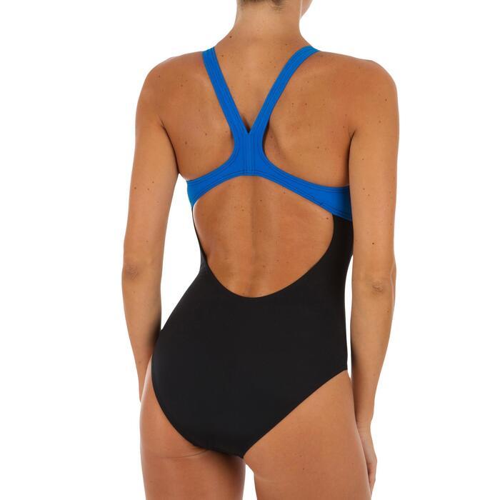 Bañador Natación Piscina Arena Spaced Mujer Espalda O Tirantes Anchos Negro Azul