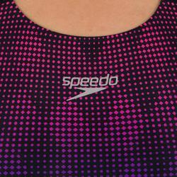 Bañador Natación Piscina Speedo Powerback Endurance+ Mujer Espalda X Degradado