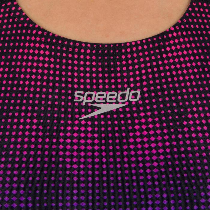 656e99d9310ea9 Speedo Damesbadpak Powerback zwart/roze | Decathlon.nl