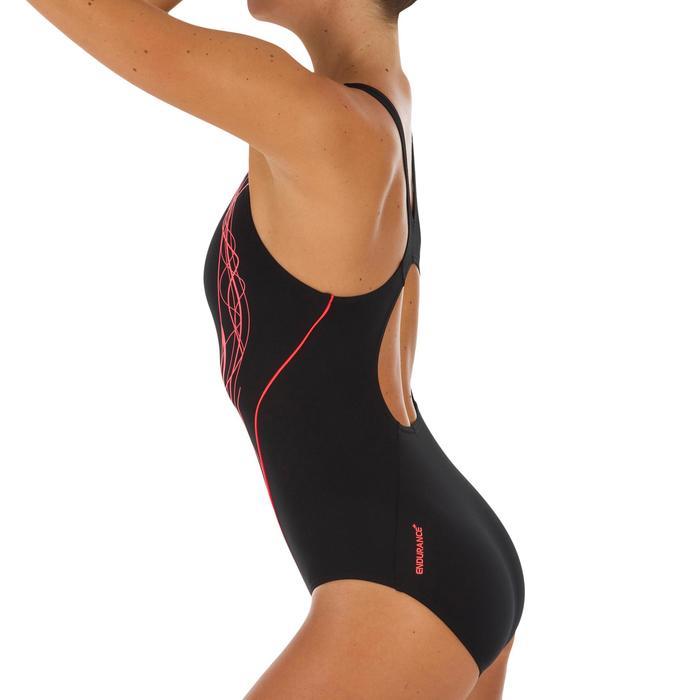 Maillot de bain 1 pièce femme Muscle back noir rouge