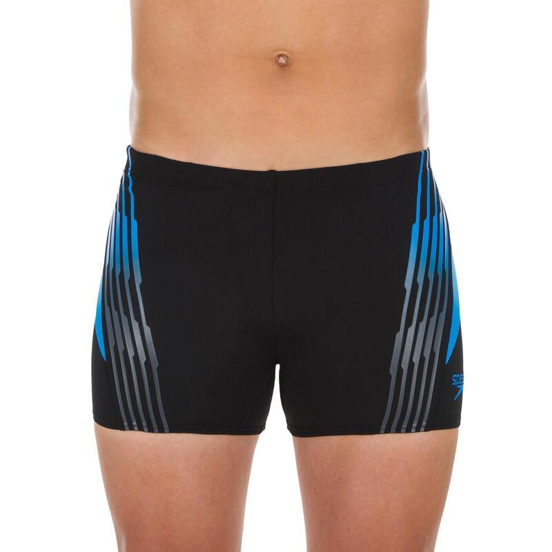 Zwembroek heren Zwemboxer Oxid zwart/blauw