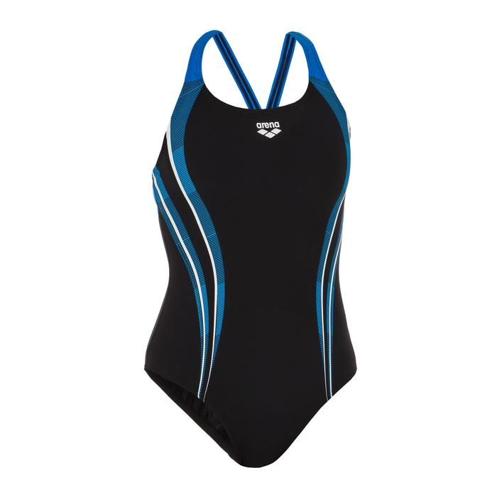 Sportbadpak voor zwemmen dames Spaced Swim Pro zwart/blauw