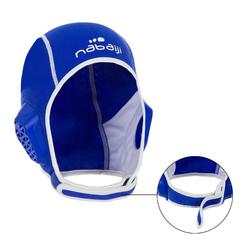 Gorro waterpolo 500 junior Easyplay con tira autoadherente azul