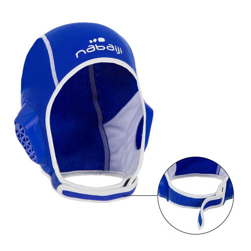 Bonnet water polo 500 junior easyplay à scratch bleu