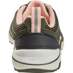 Damessneakers voor sportief wandelen HW 500 mesh kaki