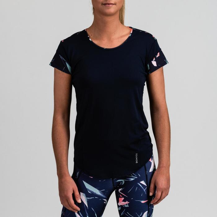 Camiseta cardio fitness mujer azul marino 500