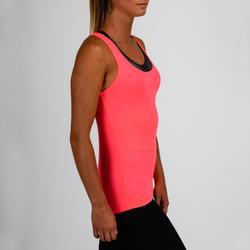 Cardiofitness top voor dames 100 roze