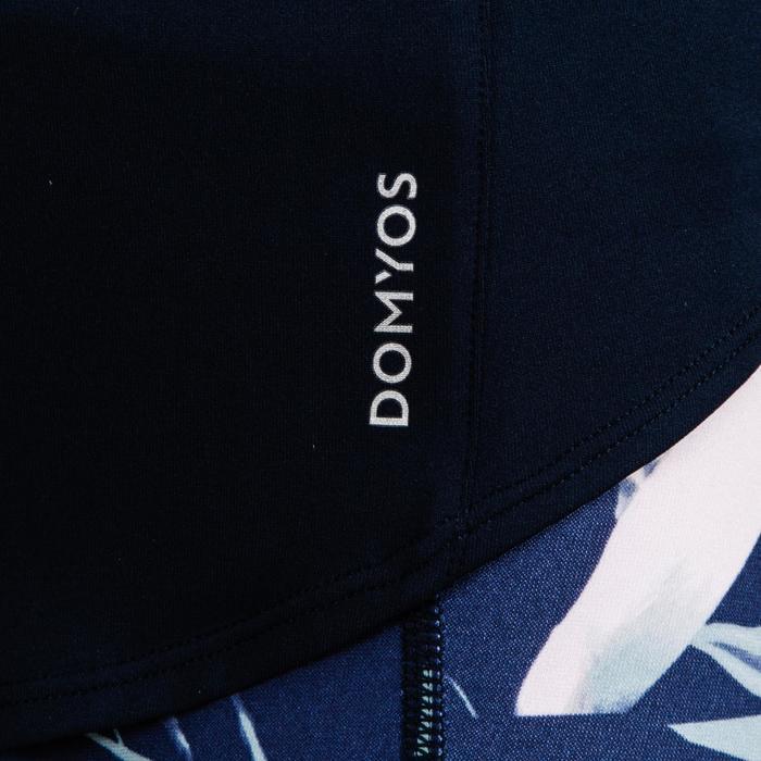 Camiseta manga corta Cardio Fitness Domyos 500 mujer azul marino caqui