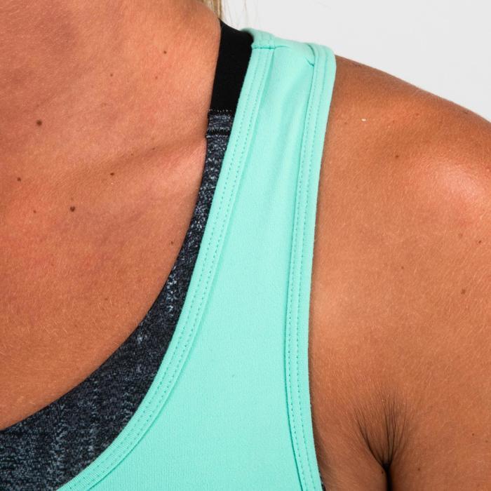 Camiseta sin mangas Cardio Fitness Domyos 100 mujer truquesa