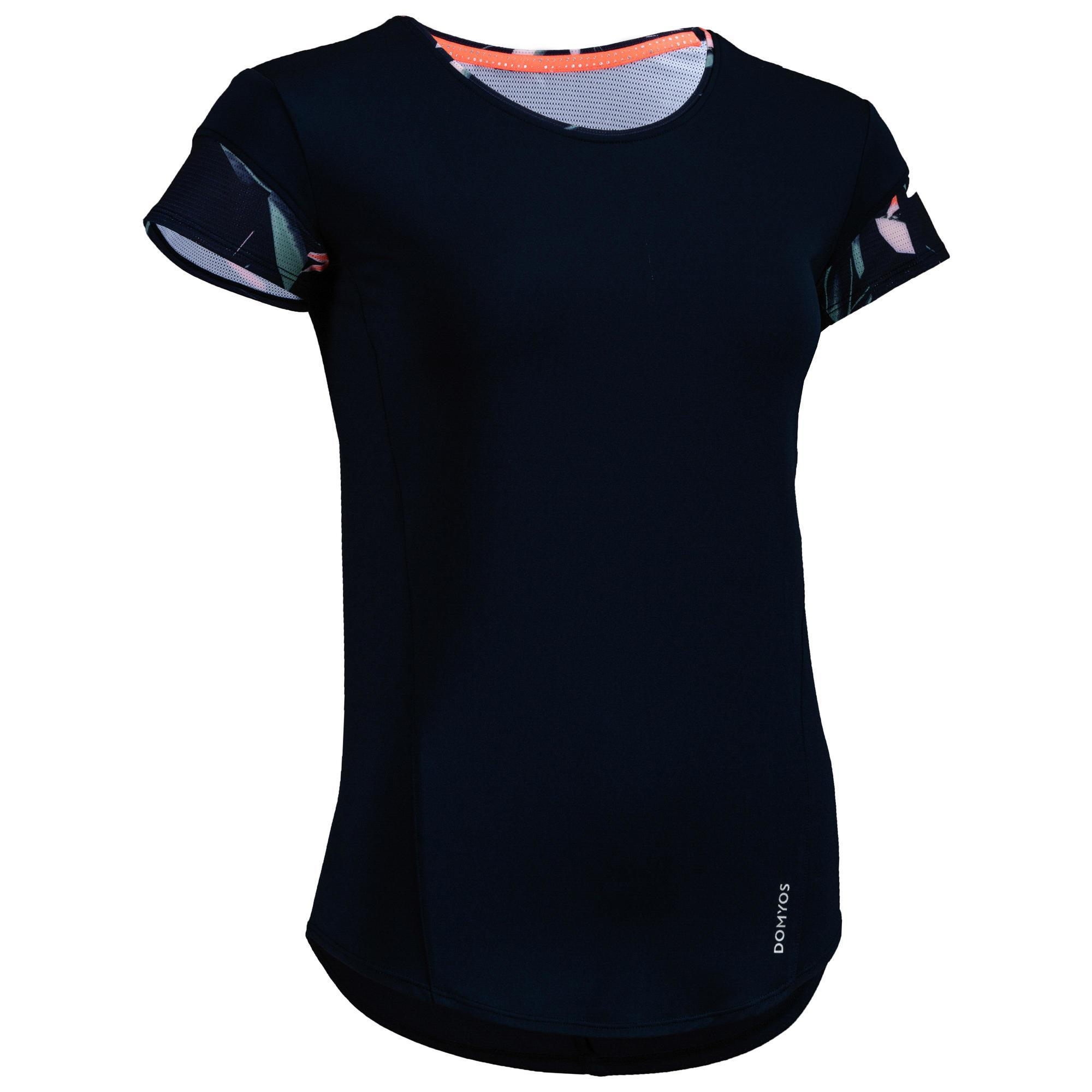 Domyos Fitness T-shirt Energy + dames, voor cardiotraining