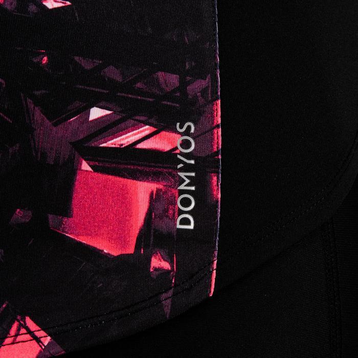 Camiseta manga corta Cardio Fitness Domyos 500 mujer negro rosa