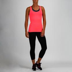 100 Women's Cardio Fitness Tank Top - Pink
